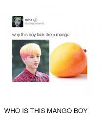 Mango Meme - mina xiumin why this boy look like a mango who is this mango boy