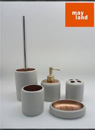 Salle De Bain Bathroom Accessories by Concrete Bathroom Accessories Set 2 Tone White X Gold Beton Bath
