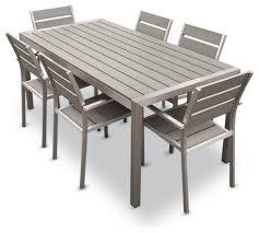 aluminum dining room chairs habana 7 piece outdoor dining set