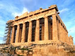 famous greek buildings world architecture earchitect stock image
