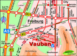 map of freiburg sights of vauban arrival