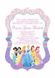 Barbie Birthday Invitation Cards Disney Princesses Birthday Invitations Disney Princess Birthday