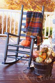 Fall Decorated Porches - tartans on the porch stonegable