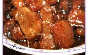cuisine chinoise porc recette porc au caramel chinois 750g