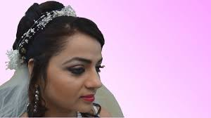 bridal hairstyle for gown indian bridal makeup christian bride youtube regarding