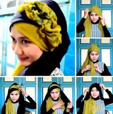 tutorial jilbab dua jilbab tutorial hijab pelangi bertingkat tutoril hijab