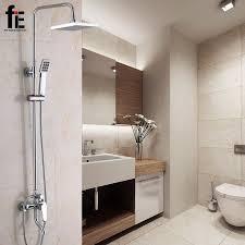Bathroom Shower Handles Aliexpress Buy Fie Bathroom Shower Set Wall Mounted Bath