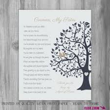 matron of honor poem gift of honor thank you personalized
