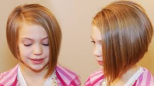 pictures of short hair for 10 year olds how to cut an asymmetrical a line girls hair tutorial beauty