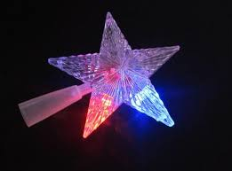 Christmas Decorations Fairy Tree Topper by Pentagram Star Led Xmas Tree Topper Fairy Light Multi Color Flash