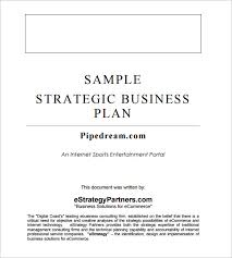 strategic business plan template 9 free word documents download