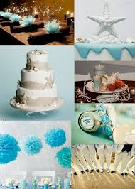 beach themed centerpieces for bridal shower decorating of party