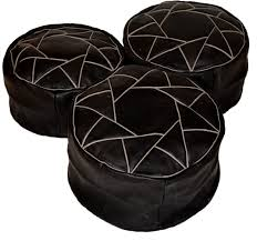 Tufted Pouf Ottoman by Ottoman Beautiful Leather Pouf Round Ottoman Black Brown Suede