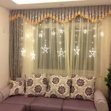Led Light Curtains Stars Led Curtain Fairy String Lights Window Curtain Lamp Star