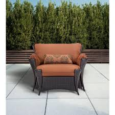 Patio Chair And Ottoman Set Hanover Strathmere Allure 2 Piece Patio Set With Oversized
