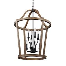 weathered oak vanity feiss lorenz weathered oak wood eight light pendant on sale