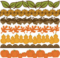 thanksgiving borders set svg cut files for scrapbooking