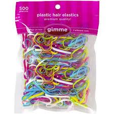 hair elastics gimme plastic hair elastics 500 count walmart