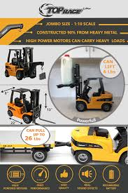Radio Controlled Front Loader 1 10 Scale Rc Bulldozer Construction Amazon Com Top Race Jumbo Remote Control Forklift 8 Channel Full