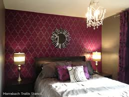 Red Bedroom Accent Wall - stenciled bedroom ideas worth dreaming over stencil stories