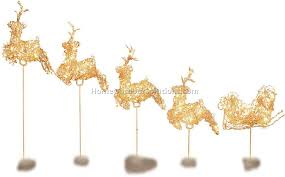Lighted Santa And Reindeer Outdoor by Outdoor Lighted Reindeer Sacharoff Decoration