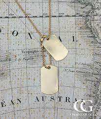 chain necklace style images Men 39 s solid yellow gold military style dog tag pendant chain jpg