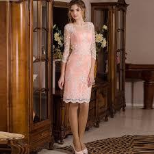 elegant straight short coral prom dresses 2017 knee length