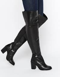 womens boots kurt geiger kg by kurt geiger valencia black leather the knee boots my