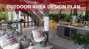 outdoor area design plan video diy