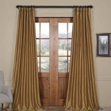 Yellow Faux Silk Curtains Yellow Gold Curtains Drapes Joss
