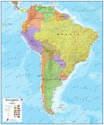 Central America Political Map by Central And Southamerica