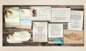 wedding invitations jamaica destination palm vintage passports with luggage tag reply
