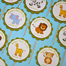 safari cake toppers safari animal cupcake toppers