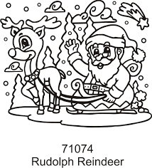 rudolph reindeer color ons colorable iron heat transfer