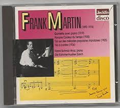 martin sur la chambre frank martin brenton langbein violin andreas pfenninger violin