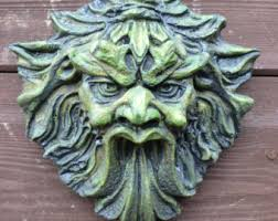 celtic green man garden wall plaque