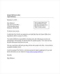 character letter of recommendation free download personal letter