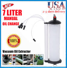 vacuum oil fluid extractor 7l manual fuel petrol syphon pump
