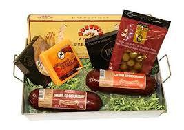 summer sausage gift basket summer sausage wisconsin cheese gift basket with klement s meat