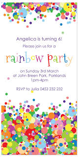Card Factory Party Invitations Rainbow Party Invitations Theruntime Com