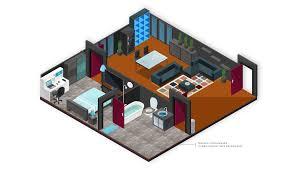 isometric floor plan isometric map builder vector city map and room builder