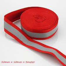 ribbon fabric 3 meters lot reflective fabric highlight reflective