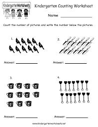 Homeschool Kindergarten Worksheets Kindergarten Kindergarten Counting Worksheet Printable