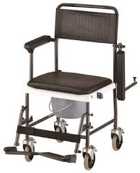 nova 8805 drop arm commode transport chair w wheels