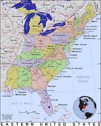 Usa Map With States by Usa Map With Eastern States At Maps