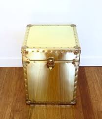 brass trunk coffee table shiny brass trunk mid century rectangle would make a great coffee