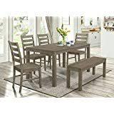 amazon com grey table u0026 chair sets kitchen u0026 dining room