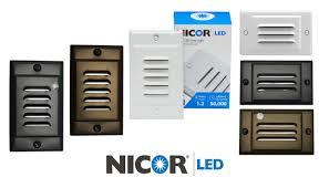 nicor led under cabinet lighting nicor lighting led step light with photocell sensor u0026 reviews