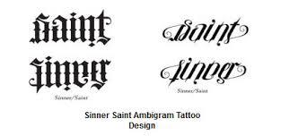 exceptional ambigram tattoos