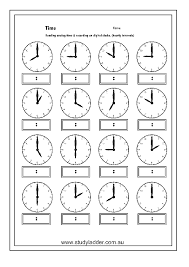 clock worksheets online studyladder online english literacy mathematics kids activity